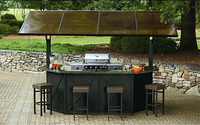 Ty Pennington Style Sunset Beach Hardtop Grill Gazebo