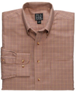 Men's Traveler Long Sleeve Patterned Cotton Buttondown Shirt