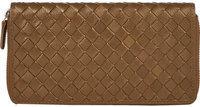 Women's Woven Leather Long Wallet