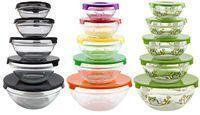Glass Food Storage Bowls 5-Piece Set