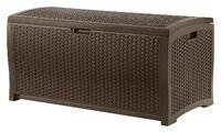 Suncast 73-Gallon Wicker Resin Deck Box