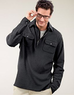 Men's Signature Brushed Jersey 1/4 Zip Pullover Jacket