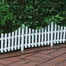 Emsco 24 x 13 White Plastic Picket Fence