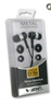 Vibe Noise Isolation HQ Metal Earbuds 3-Pack