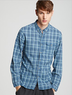 Converse Men's Black Canvas Plaid Sport Shirt