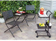Mainstays Stamped 4-Piece Bistro Set w/ Bar Cart