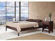 Simple Cordovan California King-size Platform Bed