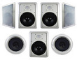 Acoustic Audio Home Theater 7-Piece In-Wall Speaker System