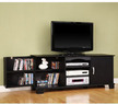 Black Wood TV Stand w/ Media Storage
