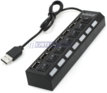 7-Port USB 2.0 Power Strip Hub