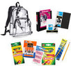 Eastsport Clear Backpack & School Supplies Value Bundle