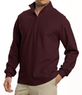 Men's Traveler Long-Sleeve Half-Zip Pique Polo Shirt
