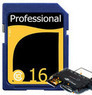 Professional 16GB Class 10 SDHC Card w/ USB Reader