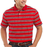 St. John's Bay Men's Striped Jersey Polo Shirt