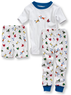 Toddlers' Tight-Fit 3-Piece Sleepwear Set