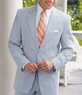 Three Men's Stays Cool 2-Button Seersucker Suits