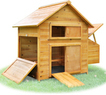 Chicken Coop w/ Large Living House & Sliding Window