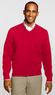 Men's Regular Fine Gauge V-neck Pullover