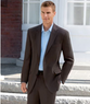 Men's 2-Button Side Vent Plain Front Suit