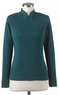 Women's Crossover Mock Neck Sweater
