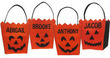 Personalized Halloween Pumpkin Face Basket