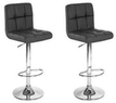 2 Swivel Modern Adjustable Hydraulic Barstools