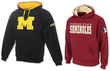 Two NCAA Men's Hoodies