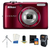 Nikon Coolpix L26 16.1MP Digital Camera with Bonus Kit