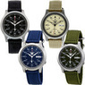 Seiko 5 Canvas Strap Automatic Stainless Steel Men's Watch
