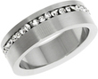 Men's 2.10-tcw Clear Cubic Zirconia Eternity Ring