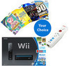 Nintendo Wii Console, Remote, and Three Wii Games