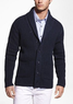 Men's Rib Knit Shawl Collar Cardigan Sweater