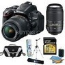 Nikon D5100 16.2MP SLR Body + Lens Bundle
