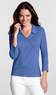 Women's Knit Faux-Wrap 3/4-Sleeve Shirt