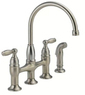 Delta 21966LF SS Dennison Bridge Kitchen Faucet