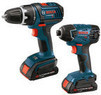 Bosch 18V Cordless Lithium-Ion 2-Tool Combo Kit (Refurb)