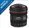 Canon EF 8-15mm f/4.0L USM Wide Fisheye Zoom Lens Bundle