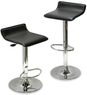 Rakuten.com - Set of 2 Modern Black Airlift Bar Stools