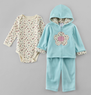 Little Wonders Infant Girl's Floral Outfit Set