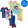 Baby Boys' or Girls' 4-Piece Character Pajama Set