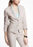 Women's Ruched Sleeve Stretch Cotton Jacket