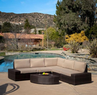 Christopher Knight Home Santa Cruz Outdoor Wicker Sofa Set