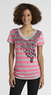 Joe by Joe Boxer  Women's Striped V-Neck T-Shirt