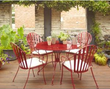 Hampton Bay Shelburne 5-Piece Metal Patio Dining Set