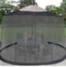 Garden Creations Outdoor 7.5-Foot Umbrella Table Screen