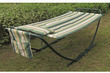 Stripe Hammock with Steel Stand