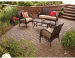 Mainstays Wicker 4-Piece Patio Conversation Set