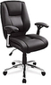 Realspace Eaton Mid-Back Bonded Leather Chair