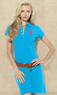 Blue Label Women's Big Pony Stretch Polo Dress
