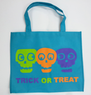 Totally Ghoul Skull Halloween Reusable Trick-or-Treat Bag